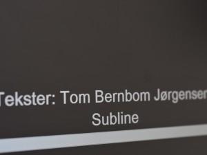 Tom Bernbom Jørgensen T: 3323 0381 E: tom@subline.dk